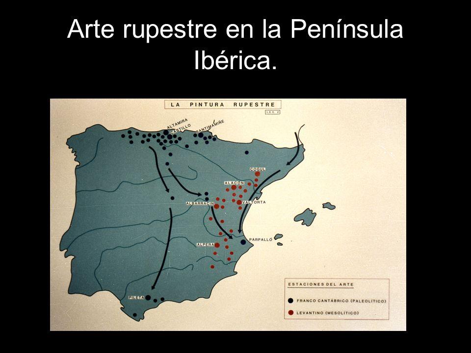 Arte rupestre en la Península Ibérica.
