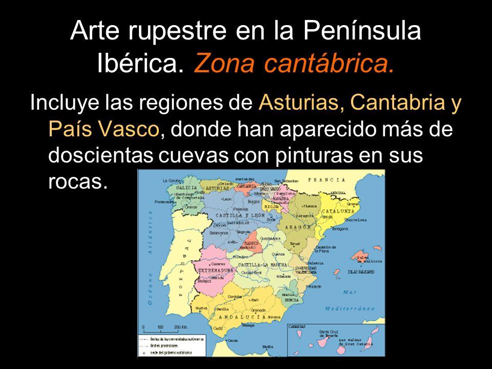 Arte rupestre en la Península Ibérica. Zona cantábrica.
