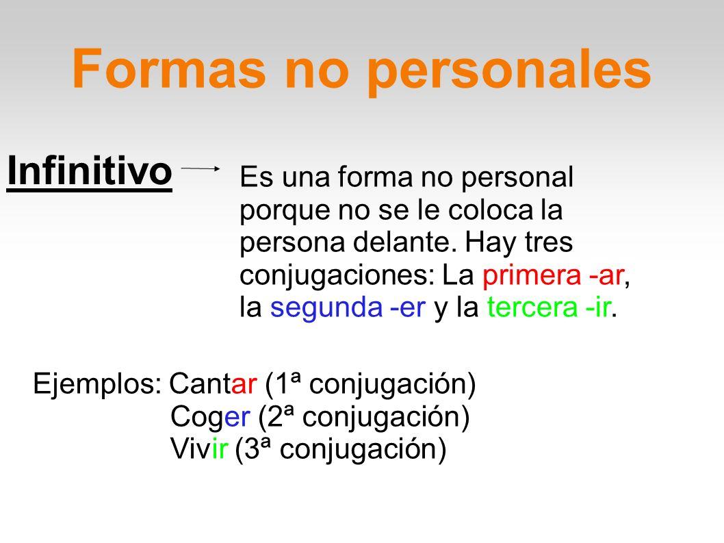 Formas no personales Infinitivo