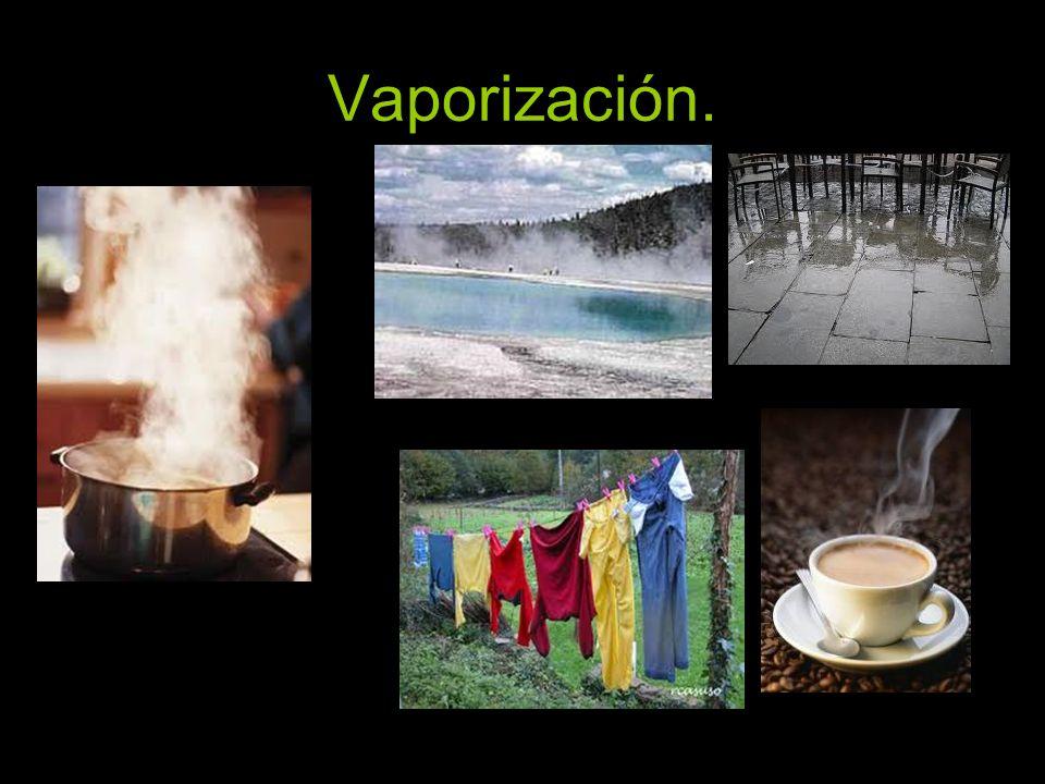 Vaporización.