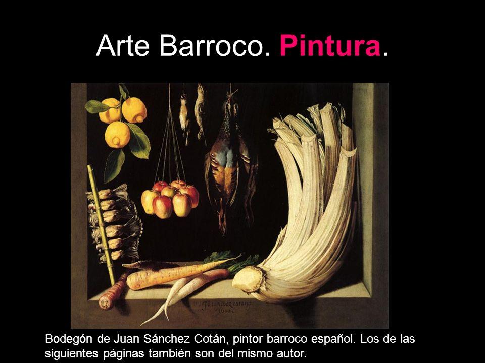 Arte Barroco. Pintura. Bodegón de Juan Sánchez Cotán, pintor barroco español.