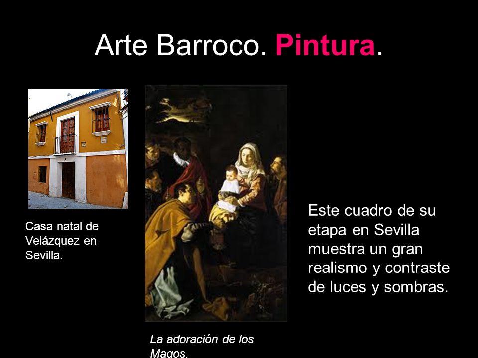 Arte Barroco. Pintura. Este cuadro de su etapa en Sevilla muestra un gran realismo y contraste de luces y sombras.