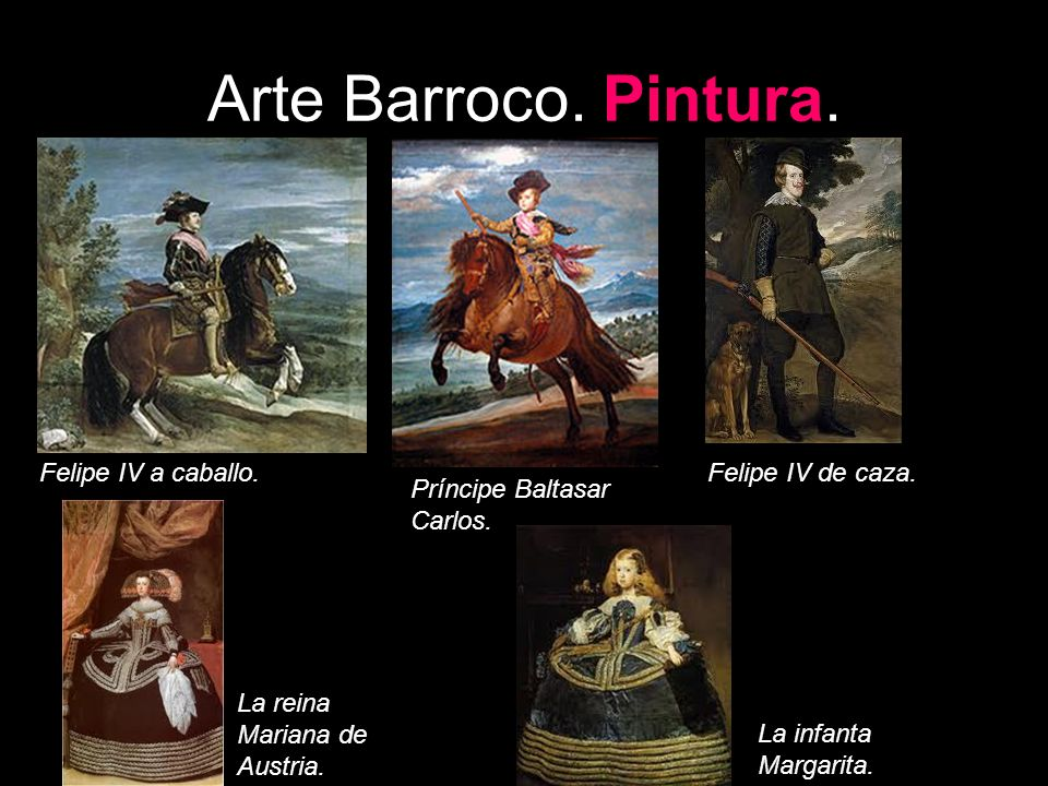 Arte Barroco. Pintura. Felipe IV a caballo. Felipe IV de caza.