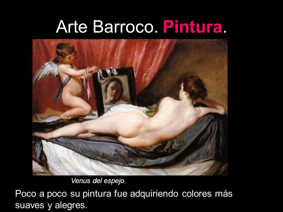 Arte Barroco. Pintura. Venus del espejo.