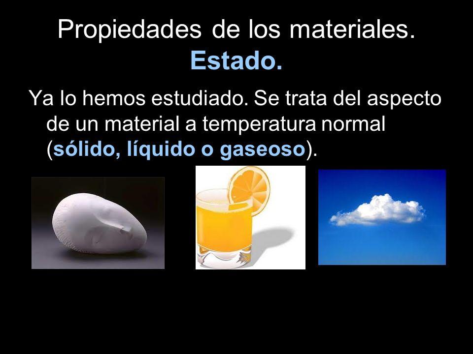 Propiedades de los materiales. Estado.