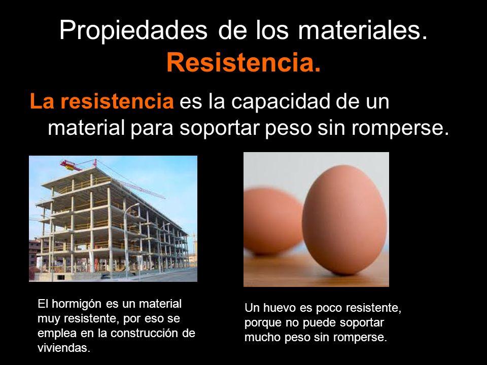 Propiedades de los materiales. Resistencia.