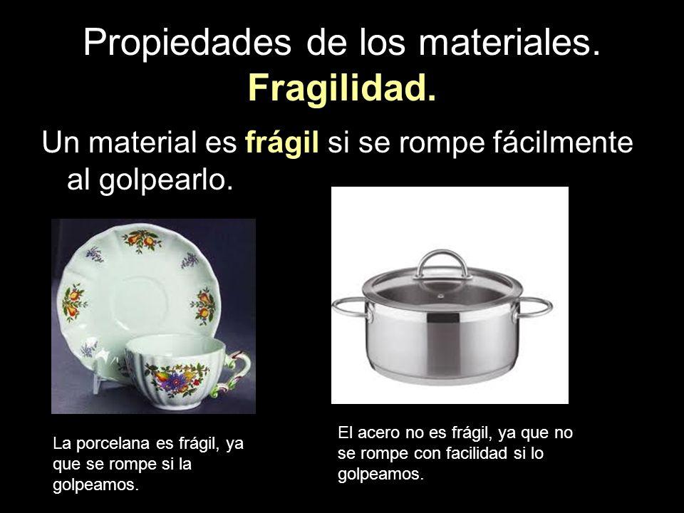 Propiedades de los materiales. Fragilidad.