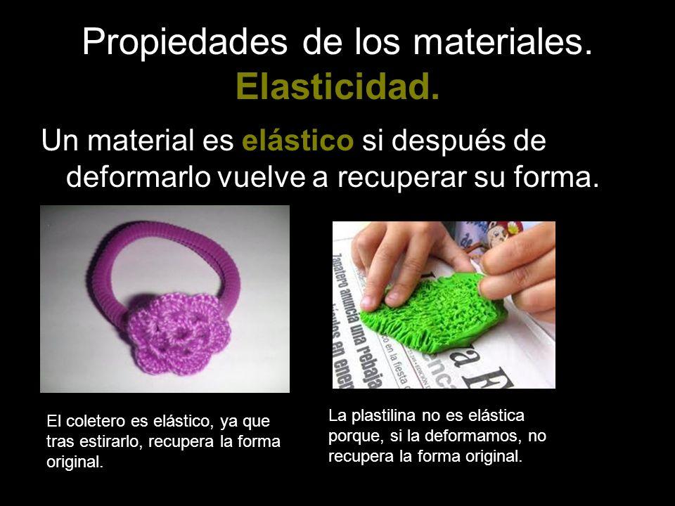 Propiedades de los materiales. Elasticidad.