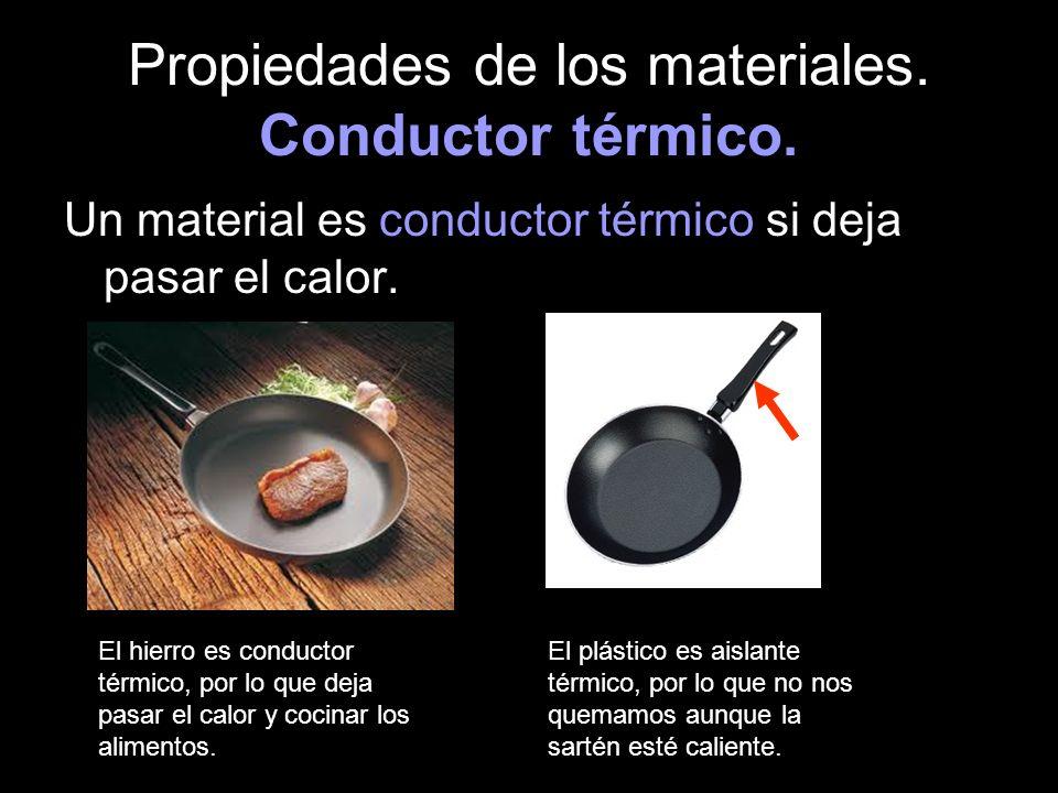 Propiedades de los materiales. Conductor térmico.
