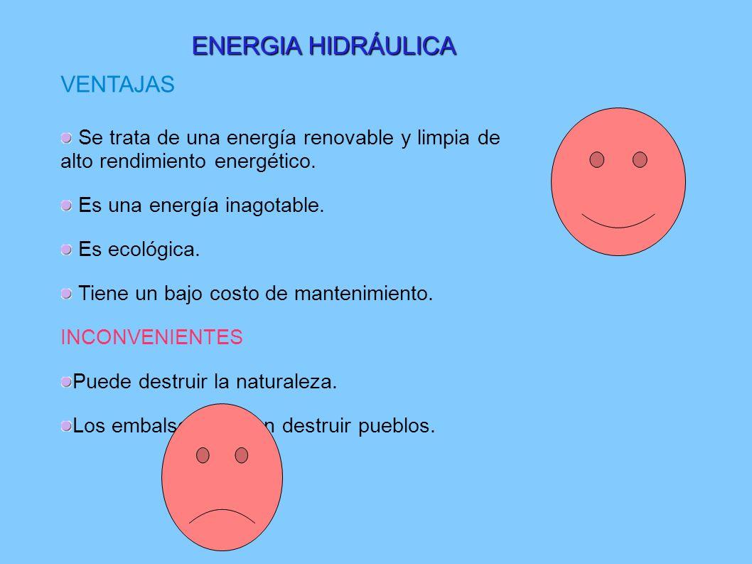 ENERGIA HIDRÁULICA VENTAJAS