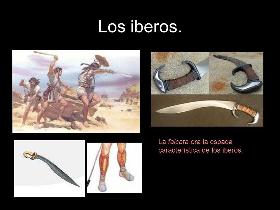 Los iberos. La falcata era la espada característica de los iberos.