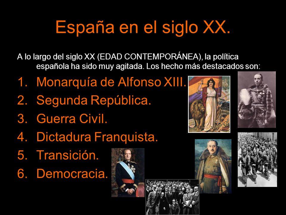 España en el siglo XX. Monarquía de Alfonso XIII. Segunda República.