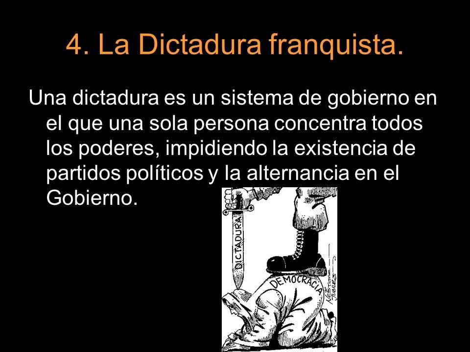 4. La Dictadura franquista.