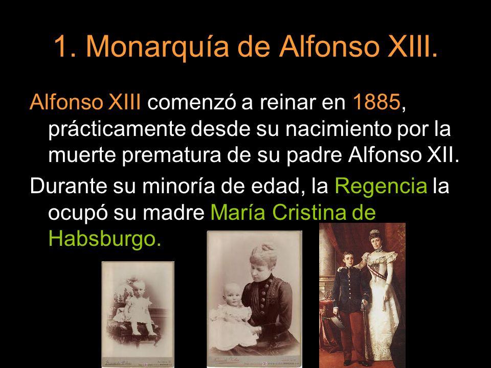 1. Monarquía de Alfonso XIII.