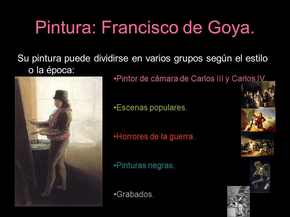 Pintura: Francisco de Goya.