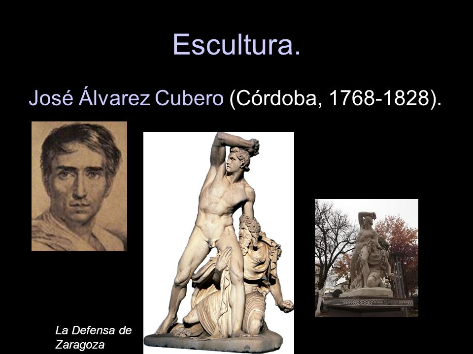 Escultura. José Álvarez Cubero (Córdoba, 1768-1828).