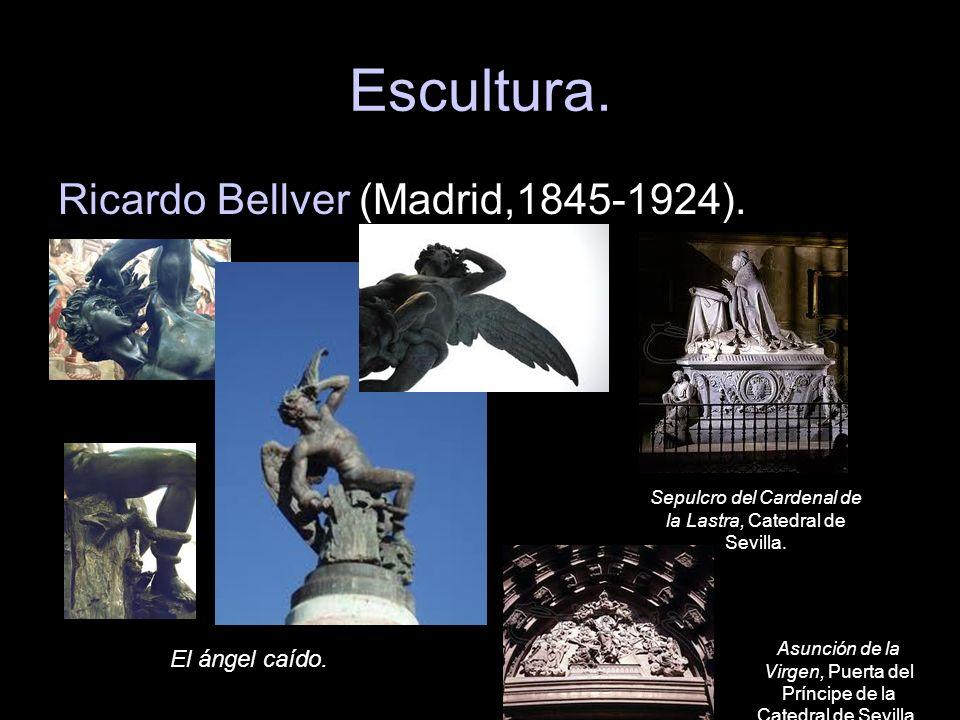 Escultura. Ricardo Bellver (Madrid,1845-1924). El ángel caído.