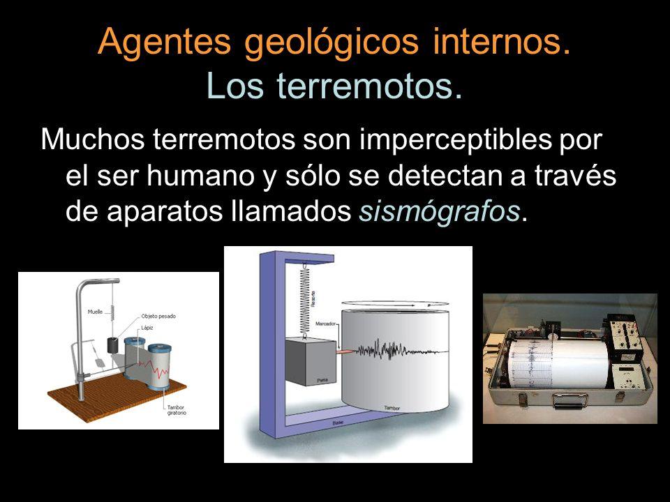 Agentes geológicos internos. Los terremotos.
