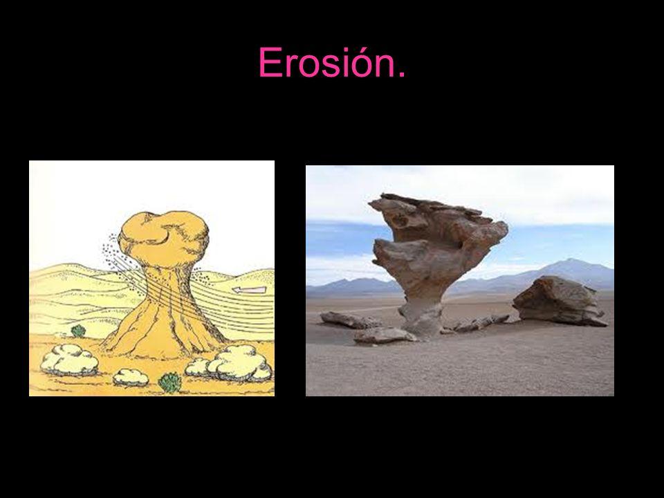 Erosión.