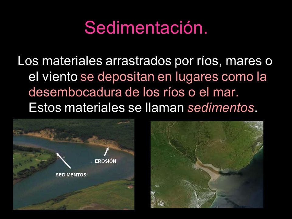Sedimentación.