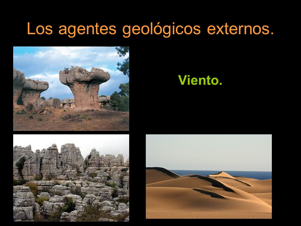 Los agentes geológicos externos.