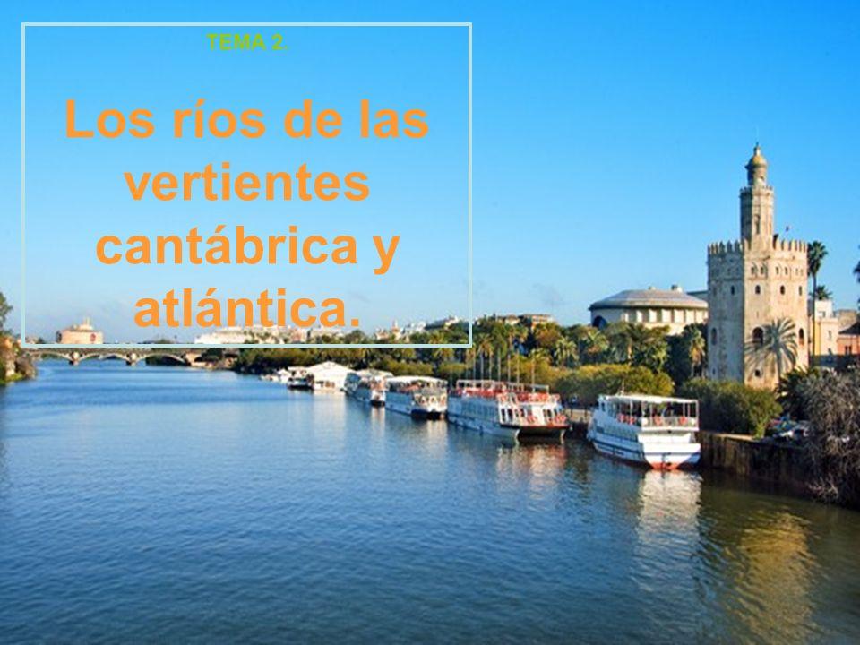 Los ríos de las vertientes cantábrica y atlántica.