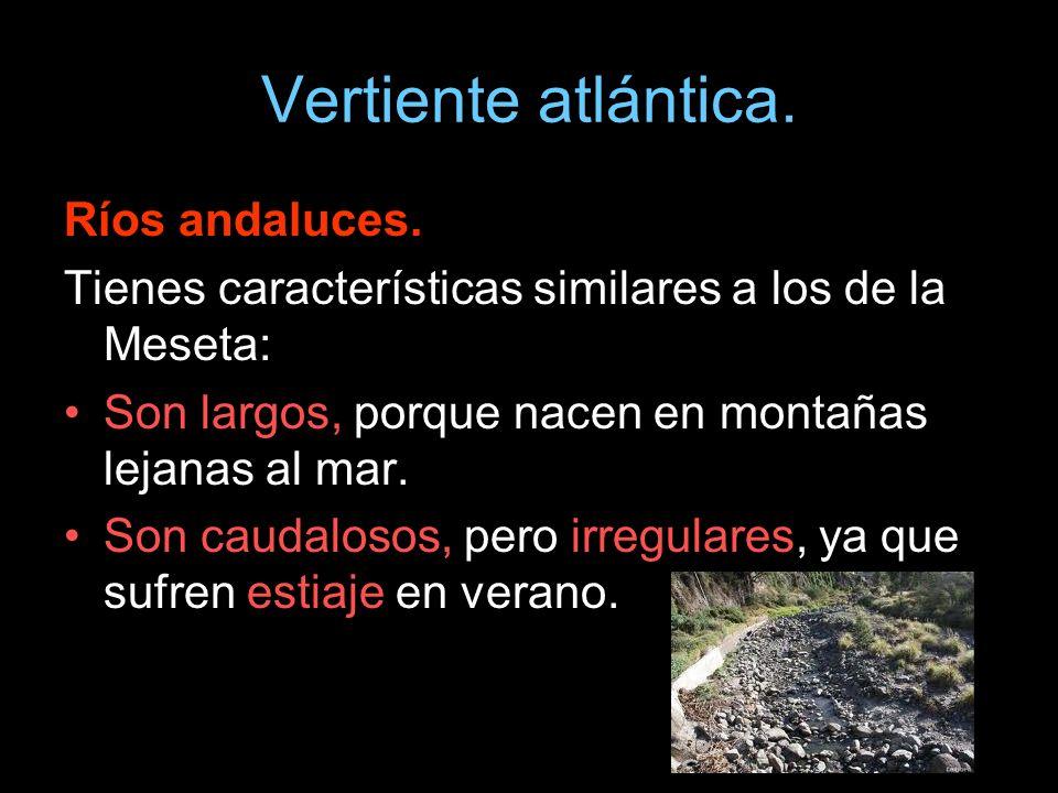 Vertiente atlántica. Ríos andaluces.