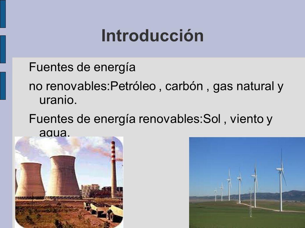 Introducción Fuentes de energía