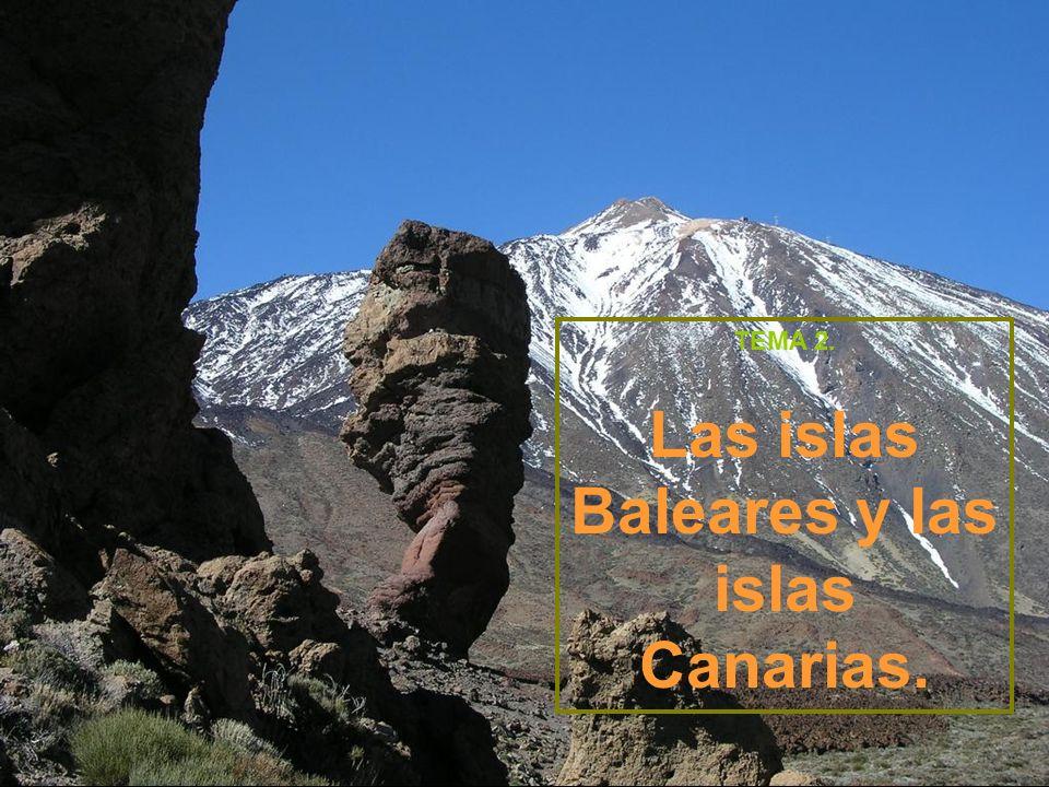 Las islas Baleares y las islas Canarias.