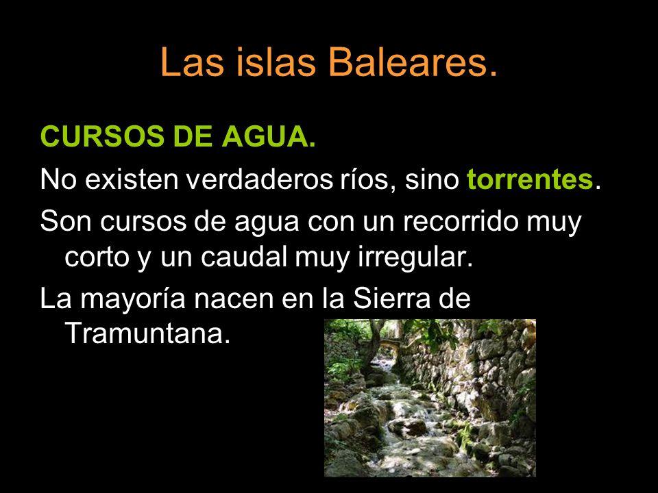 Las islas Baleares. CURSOS DE AGUA.