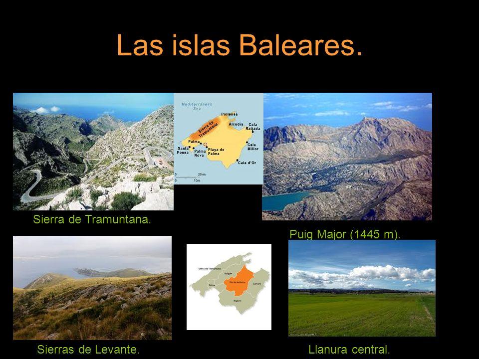 Las islas Baleares. Sierra de Tramuntana. Puig Major (1445 m).