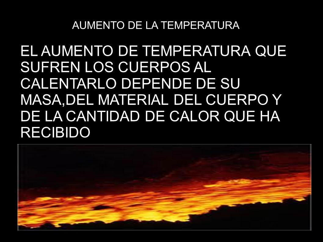 AUMENTO DE LA TEMPERATURA