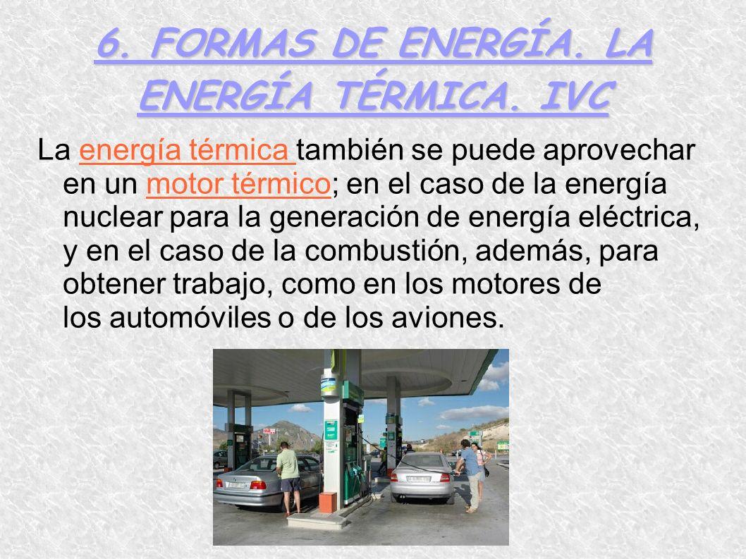 6. FORMAS DE ENERGÍA. LA ENERGÍA TÉRMICA. IVC
