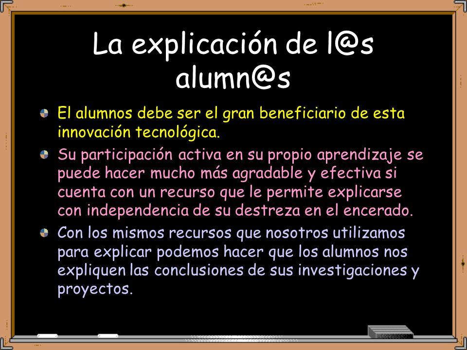La explicación de l@s alumn@s