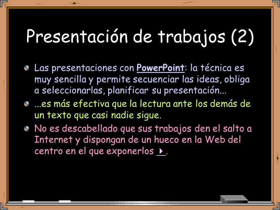 Presentación de trabajos (2)