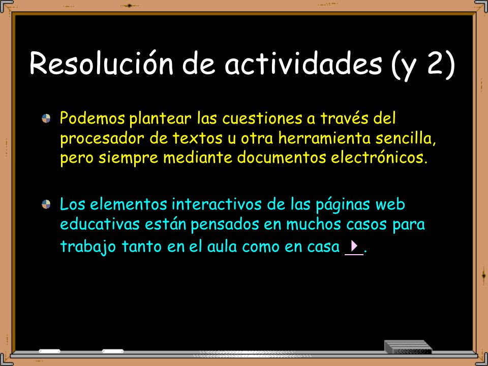 Resolución de actividades (y 2)