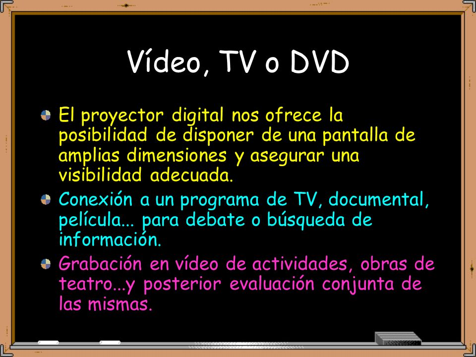 Vídeo, TV o DVD