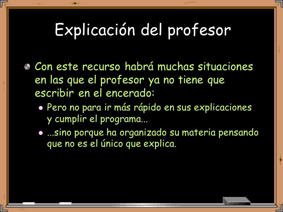 Explicación del profesor