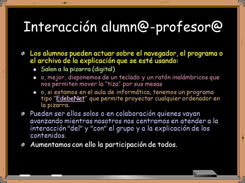 Interacción alumn@-profesor@