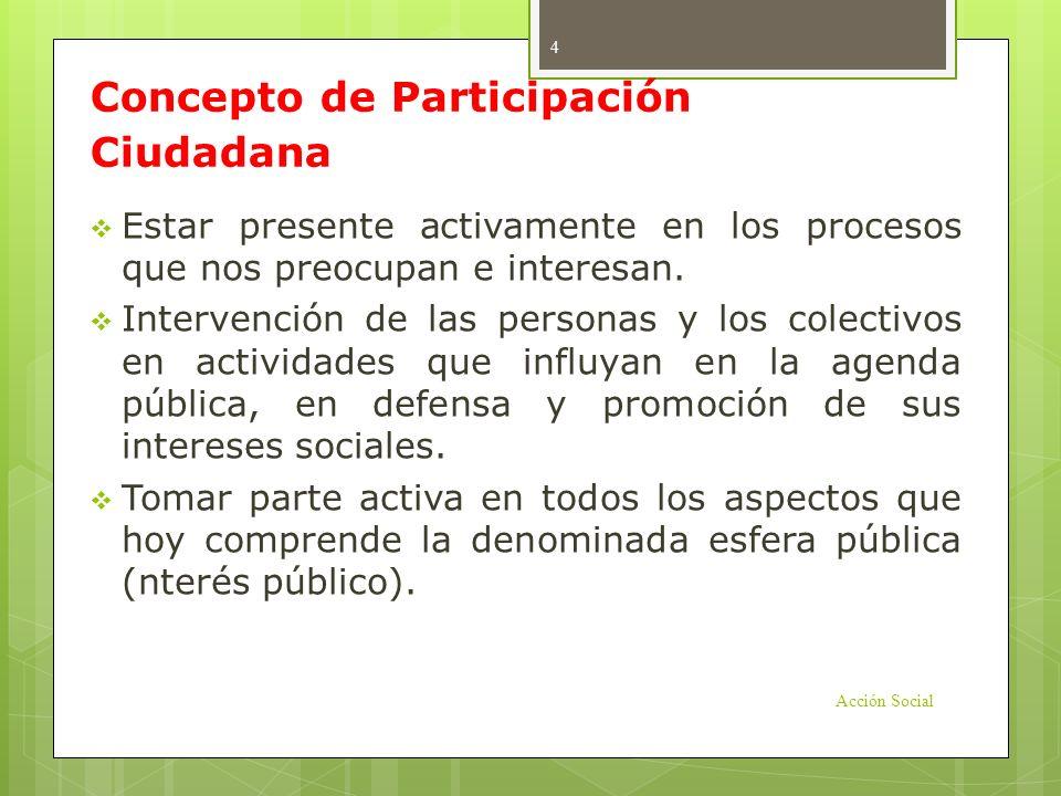 Concepto de Participación Ciudadana