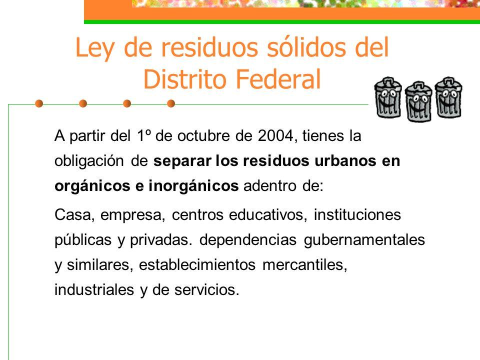Ley de residuos sólidos del Distrito Federal