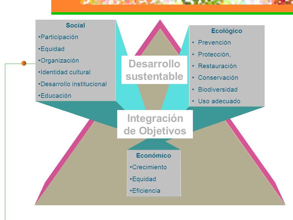 Desarrollo sustentable Integración de Objetivos