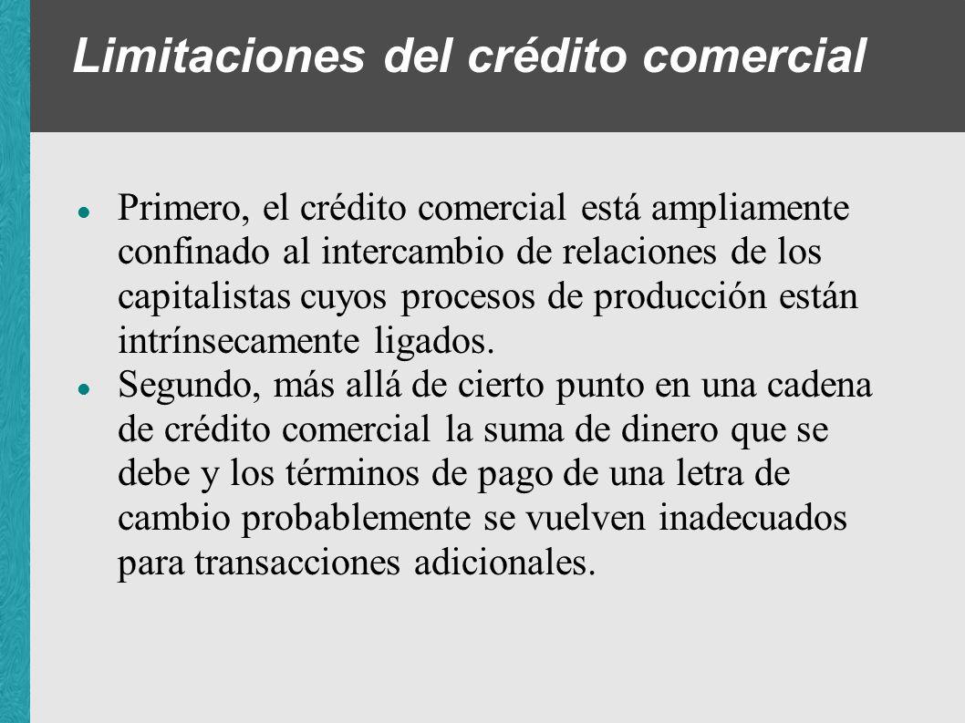 Limitaciones del crédito comercial