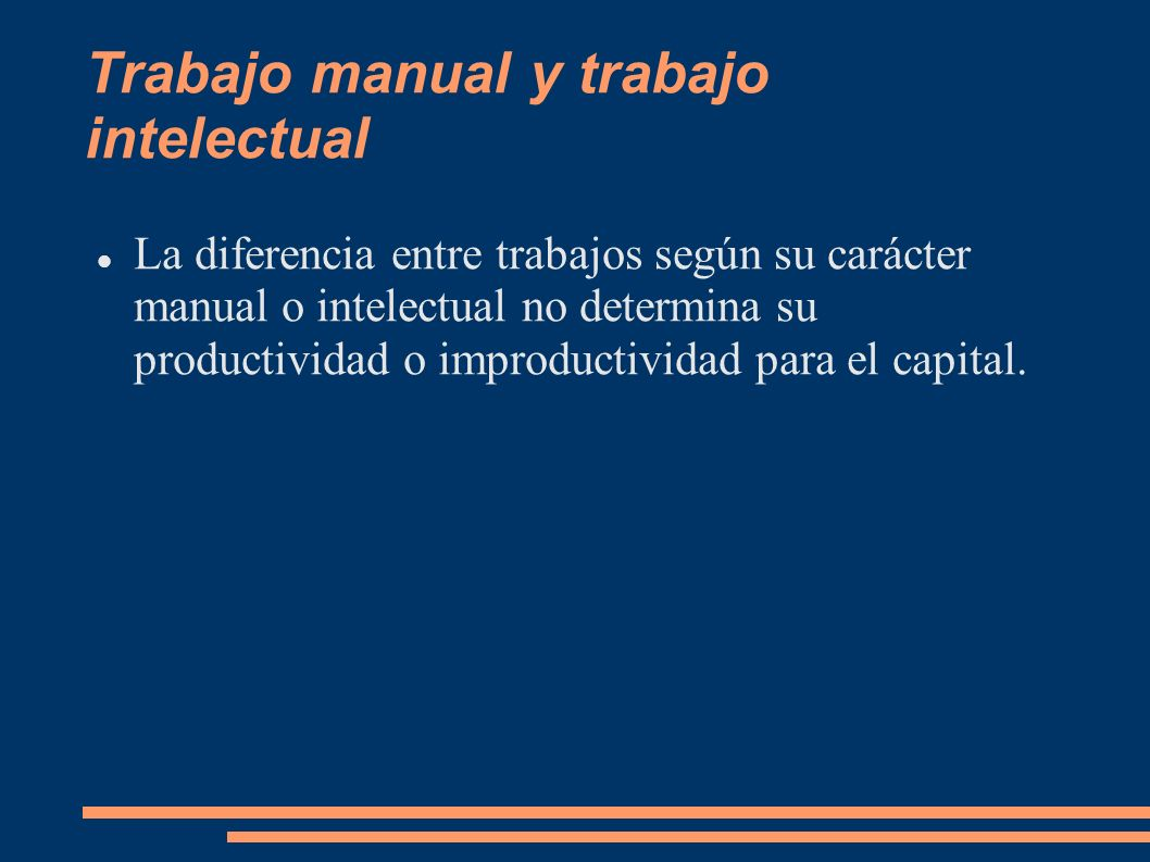Trabajo manual y trabajo intelectual