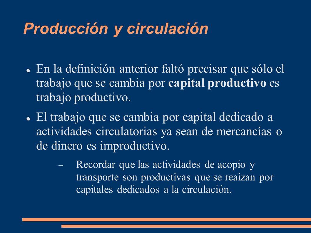 Producción y circulación