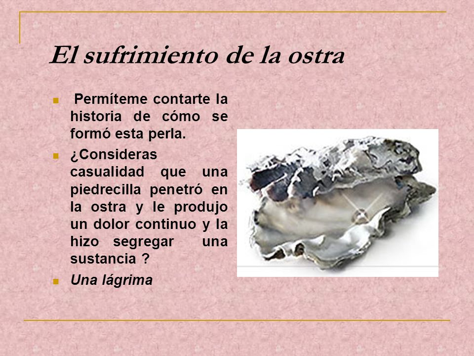 El sufrimiento de la ostra