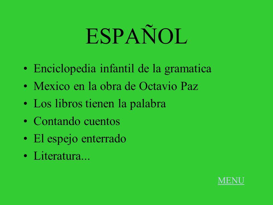 ESPAÑOL Enciclopedia infantil de la gramatica