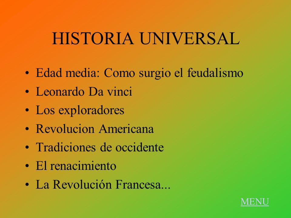 HISTORIA UNIVERSAL Edad media: Como surgio el feudalismo