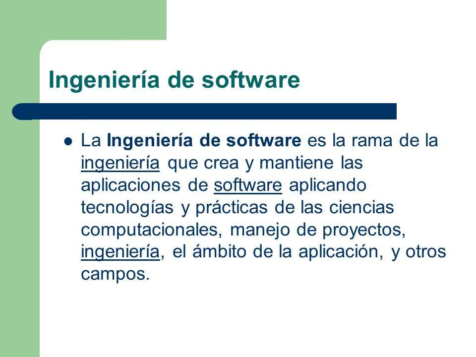 Ingeniería de software