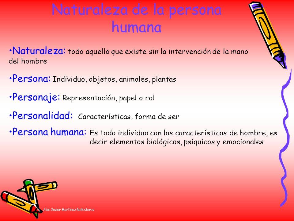 Naturaleza de la persona humana